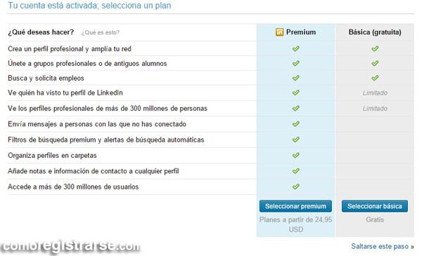 Cómo registrarse en LinkedIn