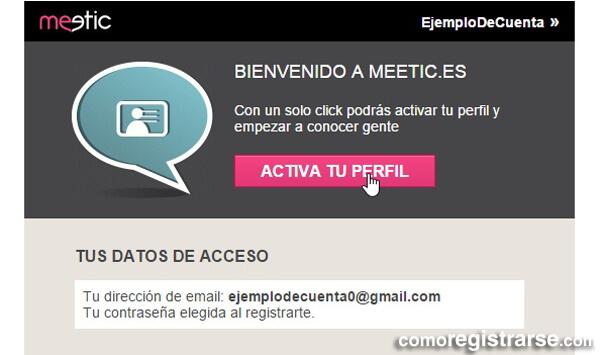 Cómo registrarse en Meetic
