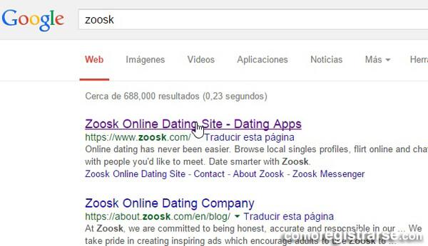 Cómo registrarse en Zoosk